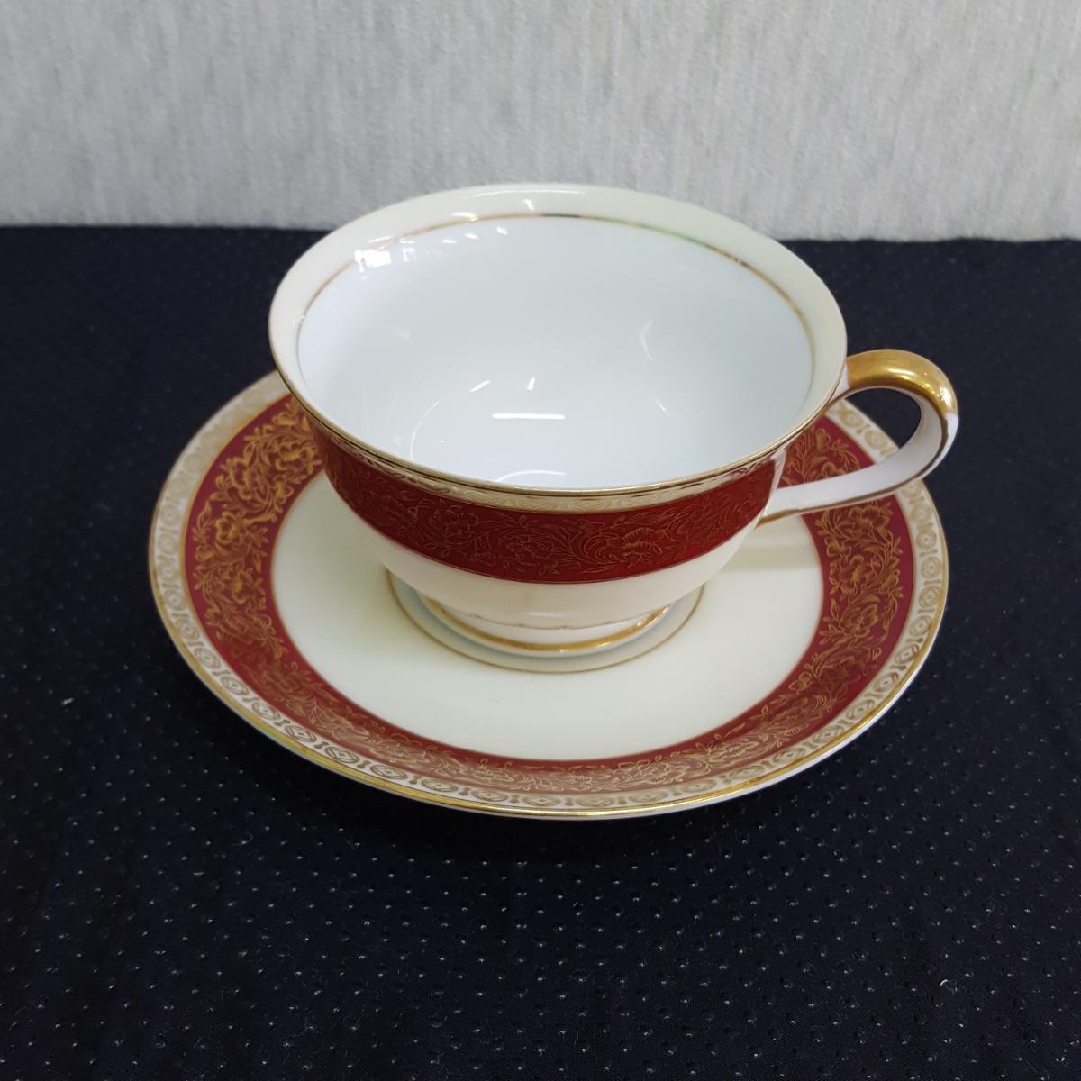 山口陶器 JYOTO 陶器 CHINA カップ&ソーサー 昭和レトロ 金彩