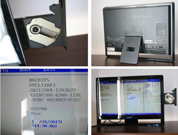 【1円~】SONY VPCL11AFJ 8GB QUAD 24型 ブルーレイ ジャンク_画像3