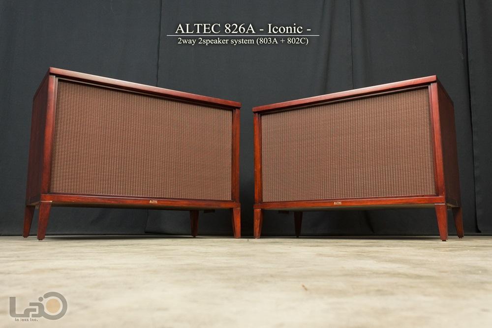 ALTEC 826A ICONIC アルテック アイコニック 2ウェイ2スピーカー・システム(803A/802C/N800D) 16Ω ペア_画像1