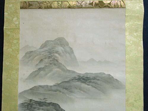 室町期 大家 相阿弥 『山水人物』の図 掛け軸 本人印譜 肉筆保証 検 日本画 南画_画像3