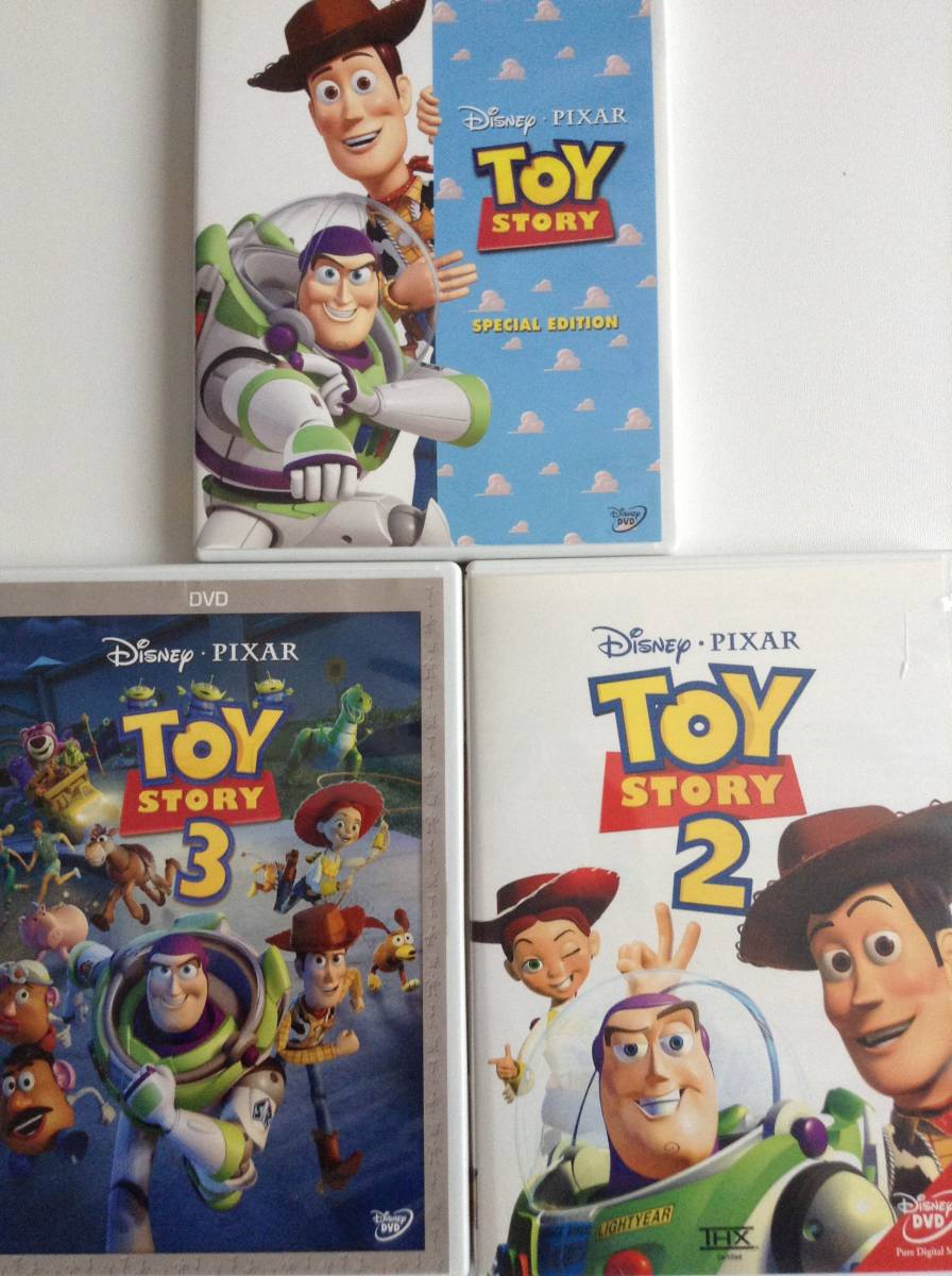 DVD ディズニー トイストーリー1,2,3 セット ジャンク品 送料無料 ディズニーグッズの画像