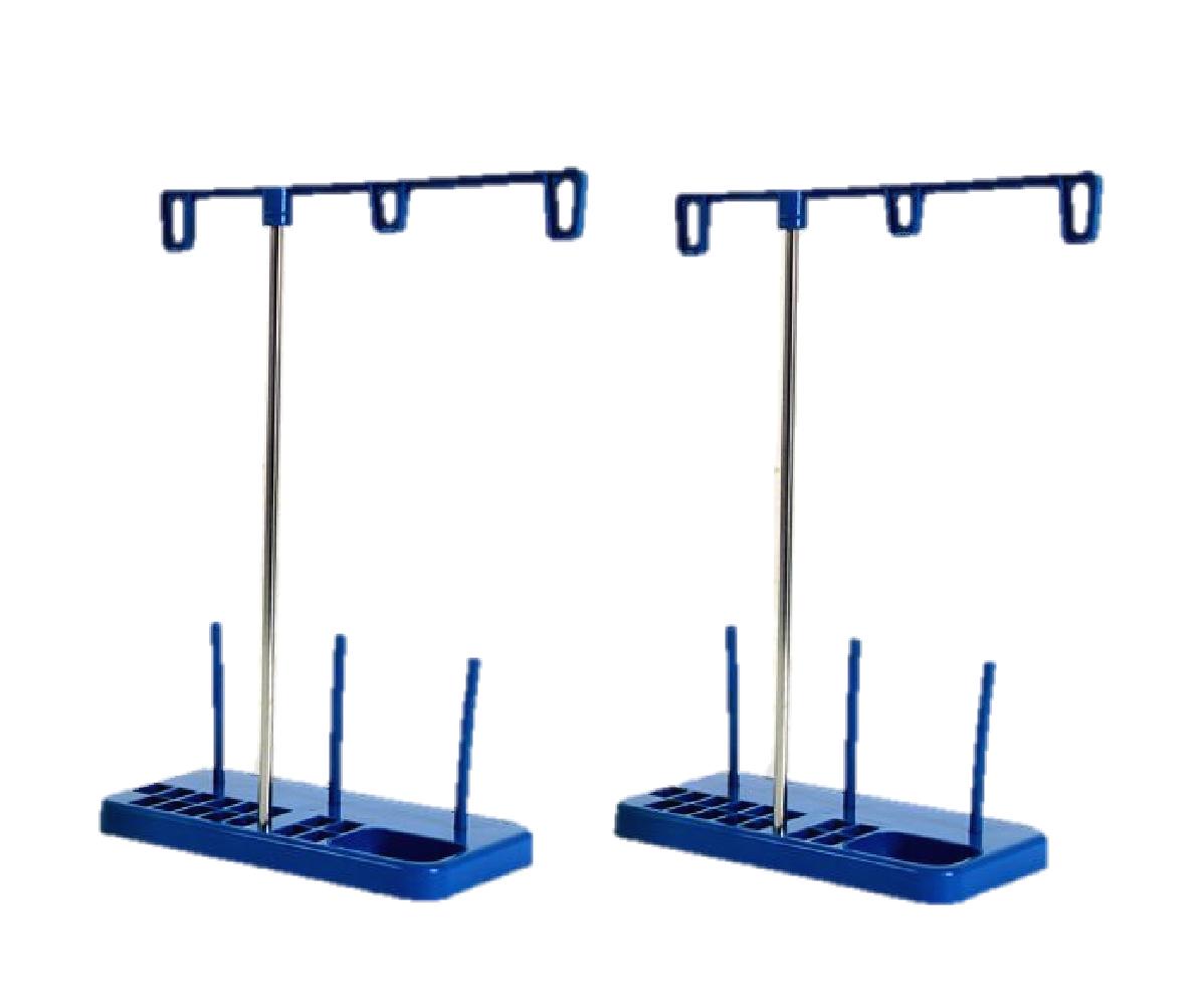 送料無料 家庭用 工業用 ミシン 太巻き糸 糸立て スタンド 2個 セット 手芸 ハンドクラフト 刺 裁縫 道具 組み立て 簡単