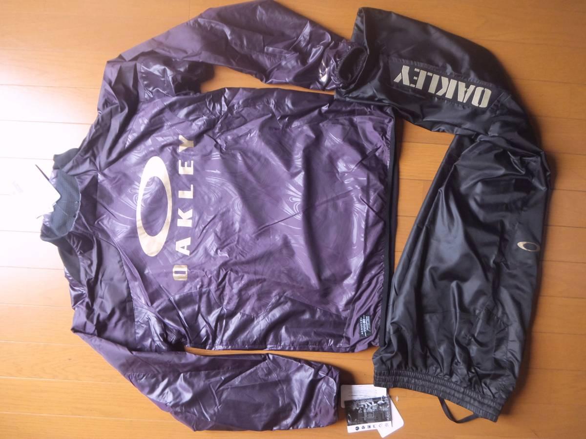 オークリー メンズM 上下 紫+黒 ウインド撥水保温内 412998JP 412066JP 新品 定価7900+8300