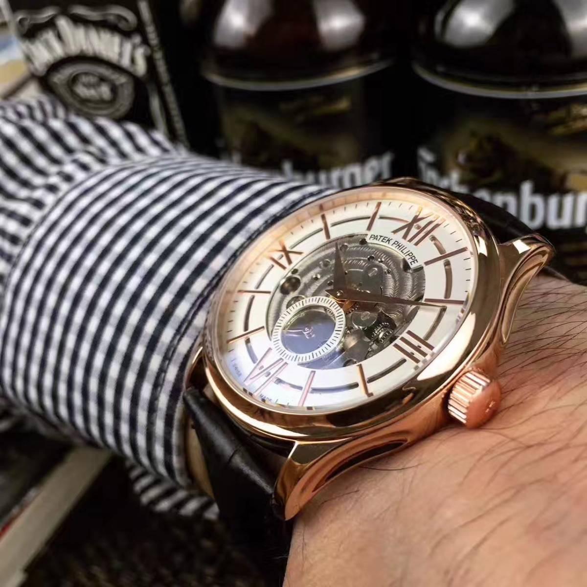 新品 パテックフィリップ 男性用腕時計 メンズ Patek Philippe 自動巻き ステンレス_画像2