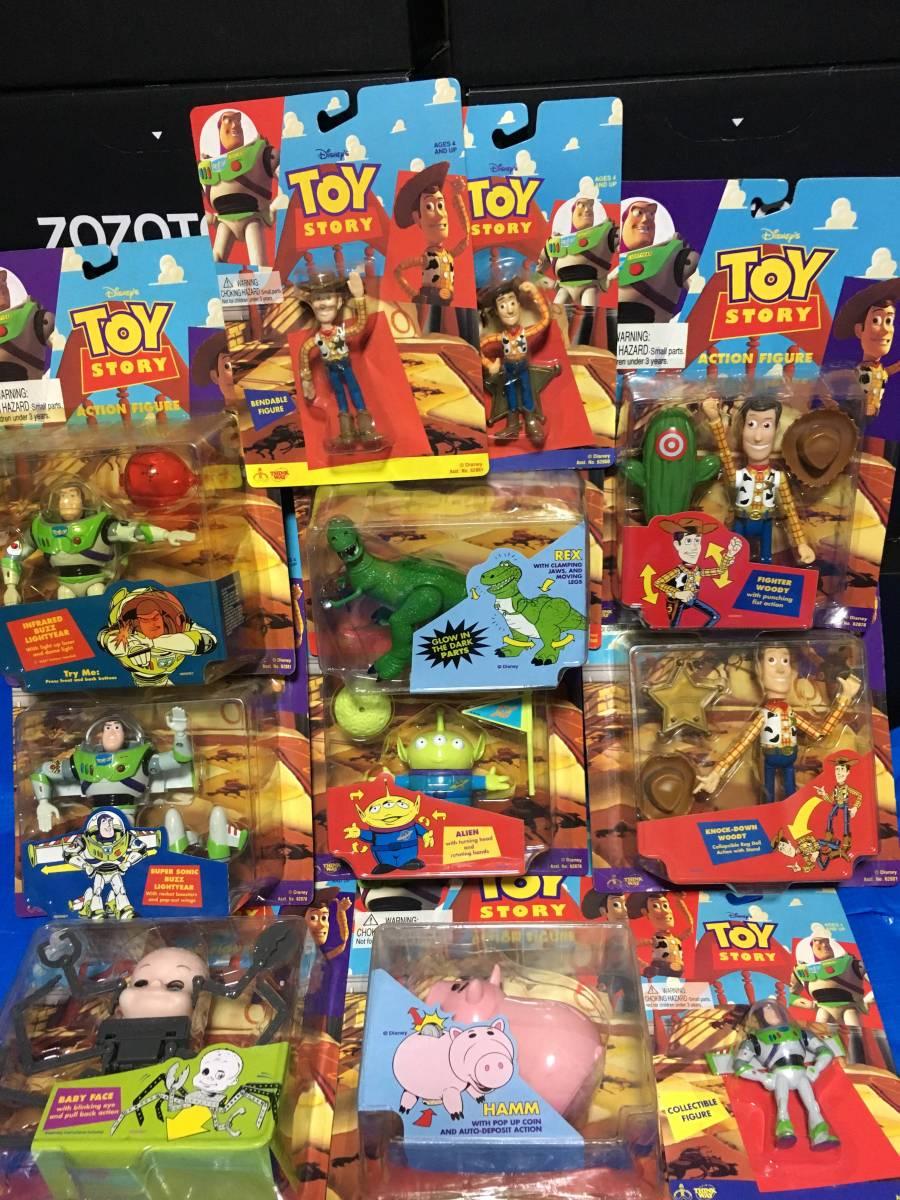 【送料込み】トイストーリー toystory アクションフィギュア 11体セット HAMM REX ハム レックス alien エイリアン バズライトイヤー ディズニーグッズの画像