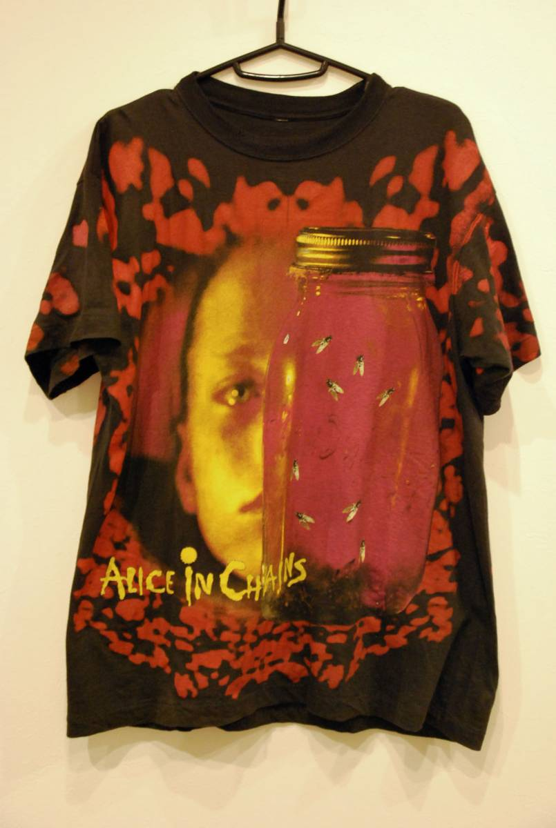 90s alice in chains 総柄tシャツ激レアバンドtヴィンテージ
