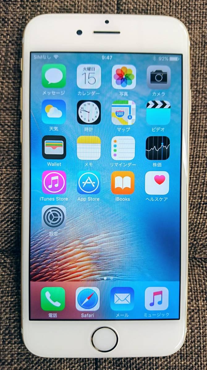 ★SIMフリー★iPhone6 64GB ゴールド NG4J2J/A(A1586) 金 アイフォン6