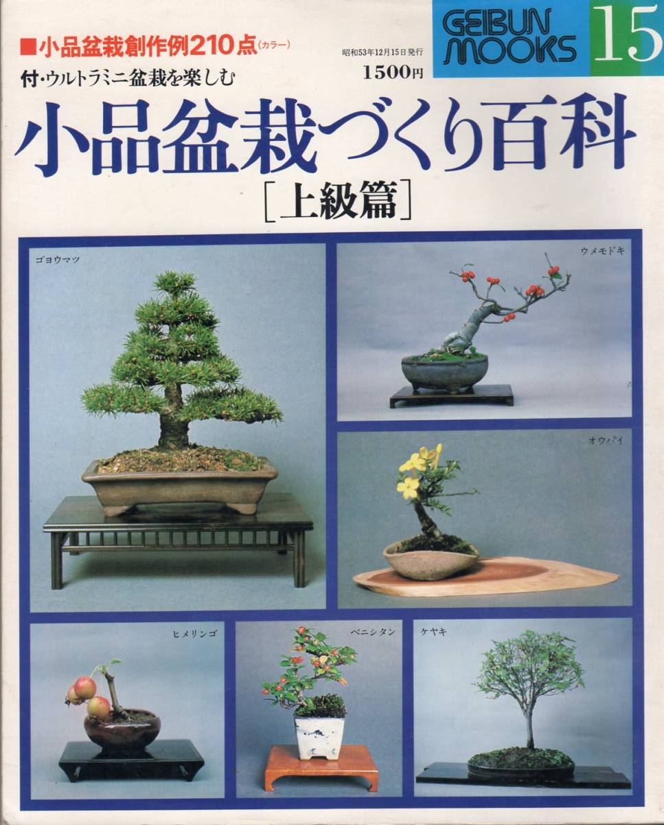 GEIBUN residents, visitors and nature(Arts program) with No. 15 pieces bonsai based Encyclopedia[advanced Chapter] Arts and culture company