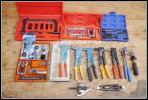 14.特殊工具まとめて大量セット②/スウェージロックSwagelokハンドリベッターMARVELパイプカッターESCOフレアツール中古プーラー稀少ケース