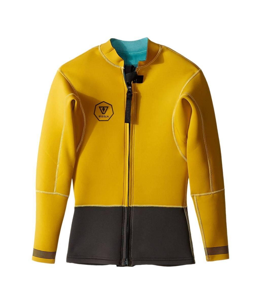 新品 VISSLA ヴィスラ 2mm Gold Size:M VISSLA Wetsuit Jacket Front Zip Gold_裏地は、空色でなく黒となります。