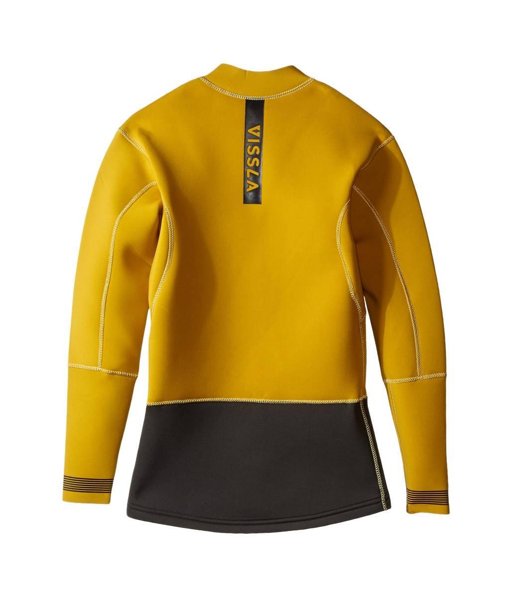 新品 VISSLA ヴィスラ 2mm Gold Size:M VISSLA Wetsuit Jacket Front Zip Gold_画像3