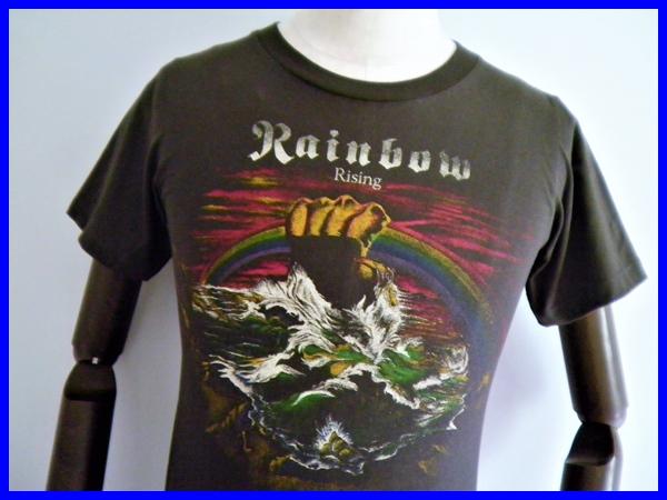 即決!美品Rainbow/虹を翔る覇者 レインボーバンドTシャツ メンズS