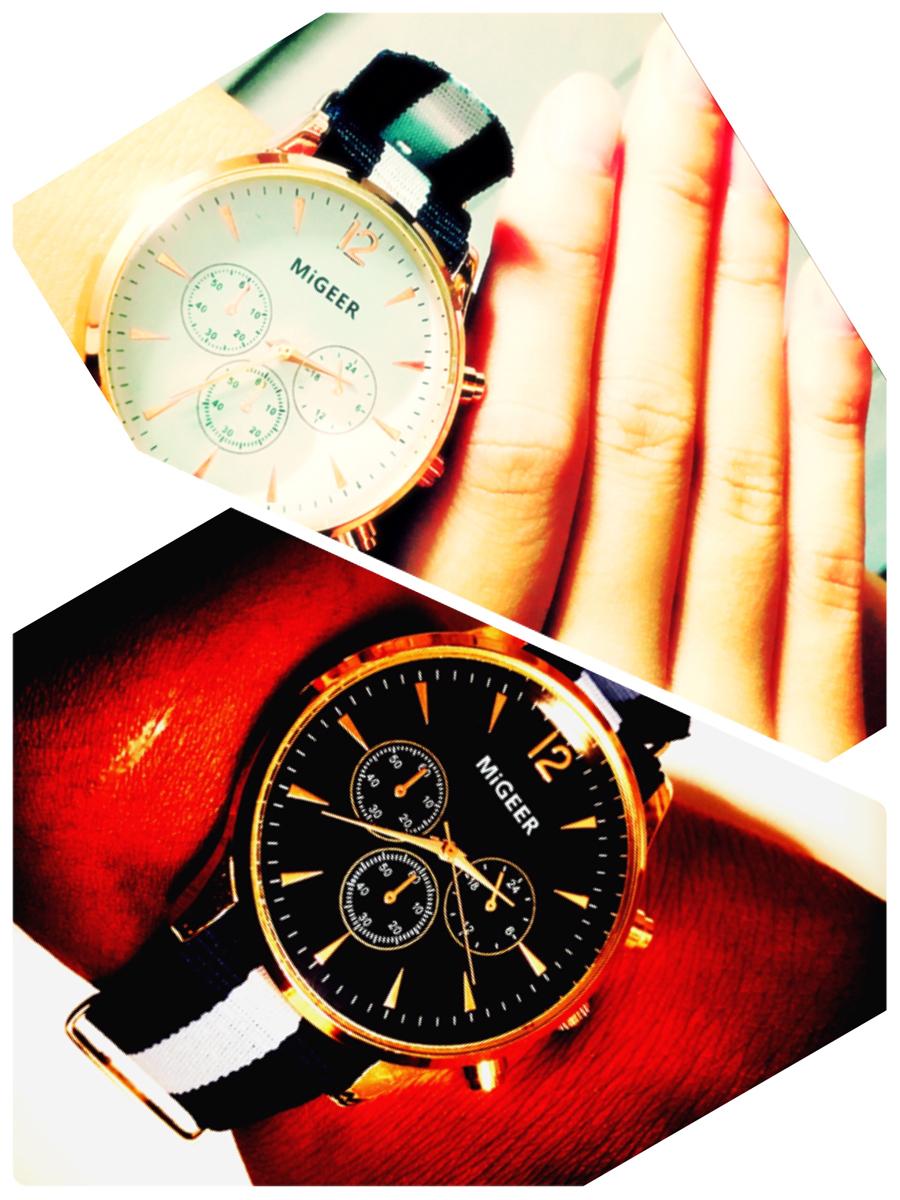 早い者勝ち・大人気!石原さとみ・ダニエルウェリントン風・腕時計・MiGEER・男女ペア・高級感・お洒落!イミテーションクロノグラフ