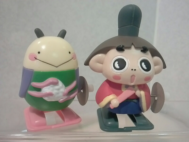 アニメ初期品 おじゃる丸と電ボ☆ゼンマイで歩くフィギュア グッズの画像