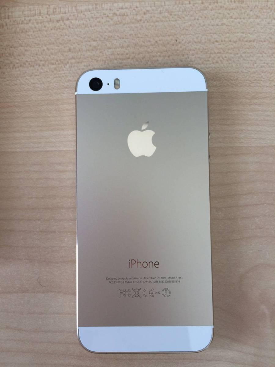 docomo iPhone5s 64GB ゴールド 判定〇_画像3