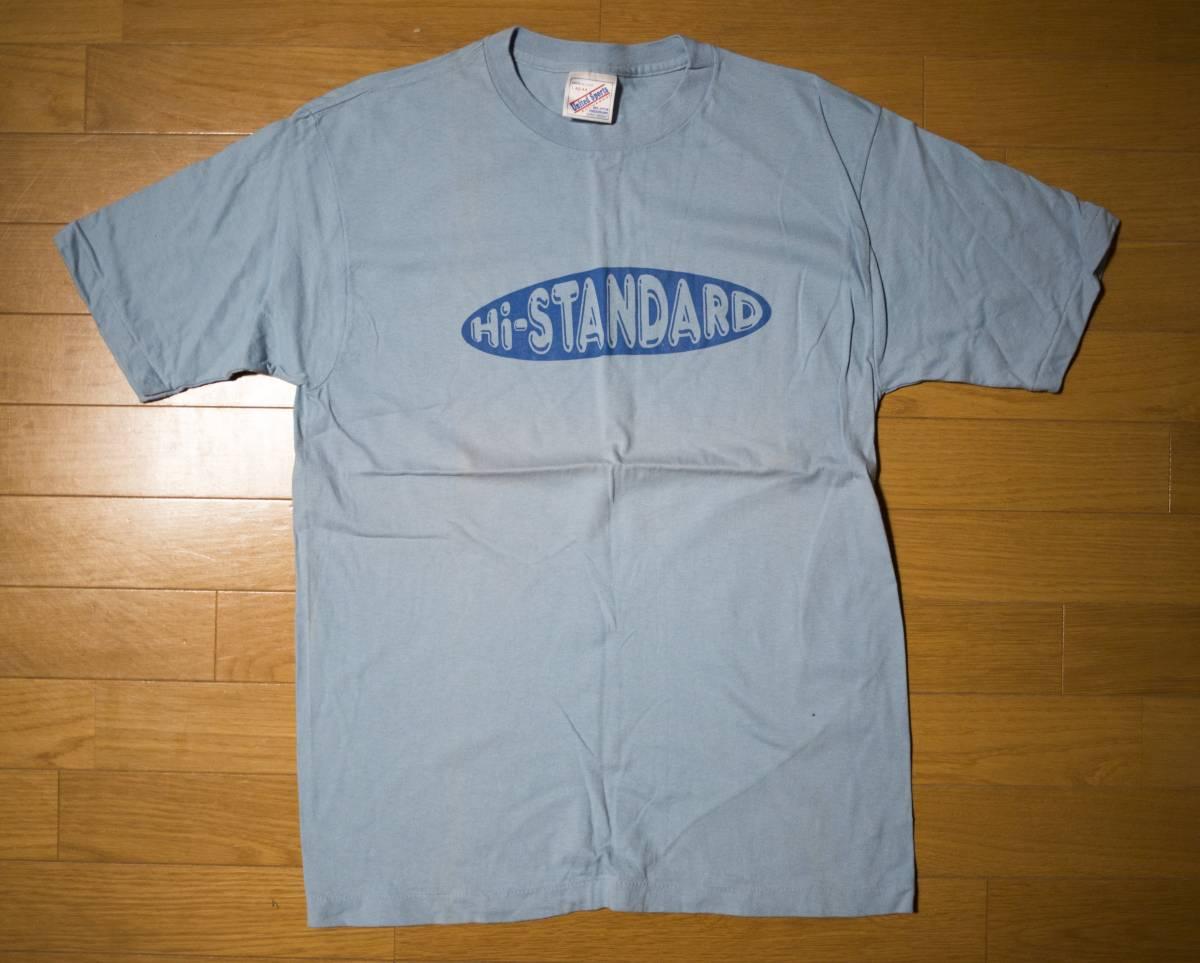 Hi-STANDARD ハイスタンダード Tシャツ 水色 90年代 未使用 ライブグッズの画像