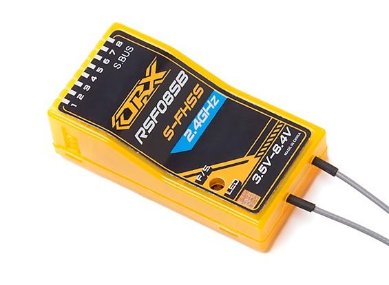 4 ★フタバ 2.4GHz S-FHSS互換★OrangeRX RSF08SB★HV S-BUS対応 8ch 受信機_画像1