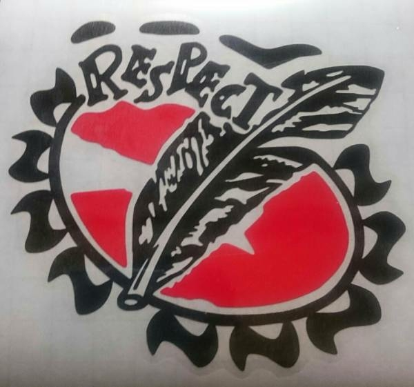 【RESPECT】B'z ☆10cm☆切り抜きタイプ☆ハンドメイドステッカー☆送料込み☆黒色&赤色