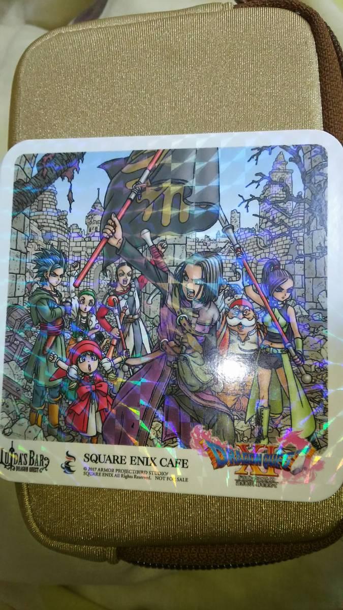 ドラゴンクエスト11コラボ スクエニカフェ&ルイーダの酒場限定 ラメ入りコースター グッズの画像