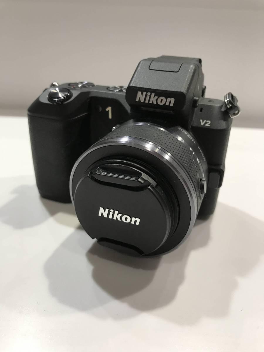 ニコン Nikon 1 V2 標準ズームレンズキット ブラック 美品 使用少 ミラーレス 一眼 使用二回 1円売り切り!