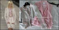【超美品 ランウェイ着 幻】シャネル スーツ 3点セット CHANEL ジャケット スカート ブラウス 雑誌掲載 パール ロゴ