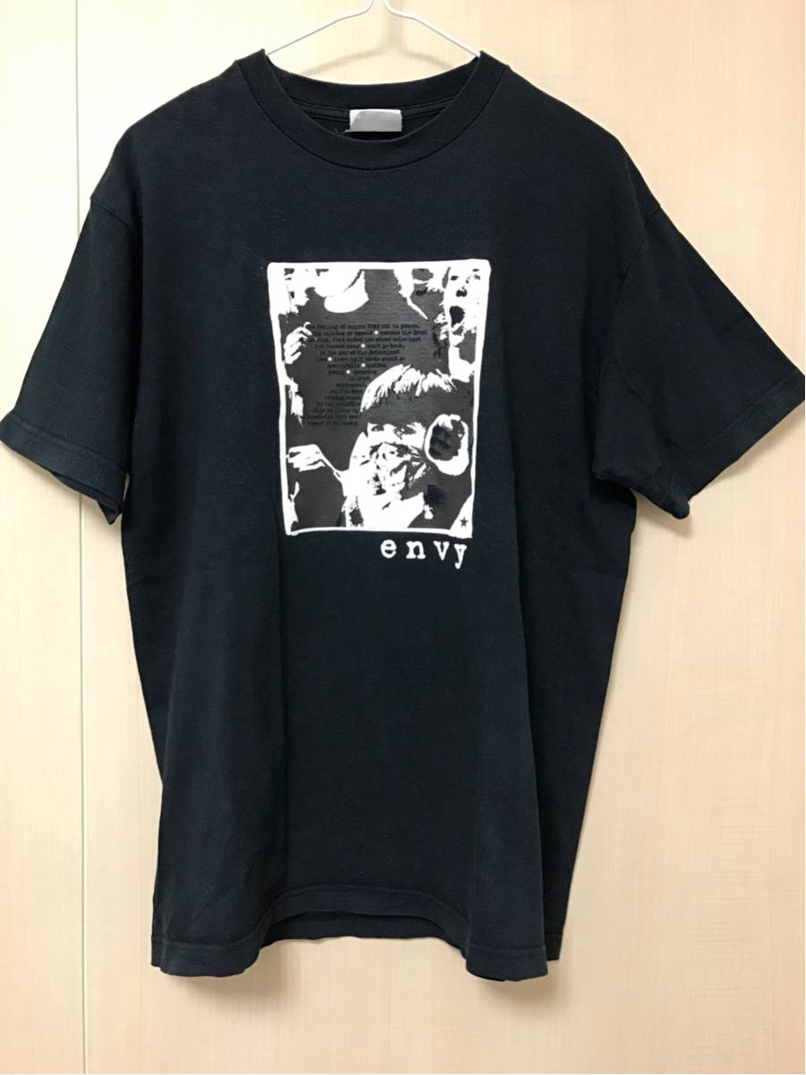 envy Tシャツ L 2001年~2002年頃 黒/ (検toe/dove/mouse on the keys/nine days wonder/bluebeard/as meias/boris/Thursday/YAPHET KOTTO