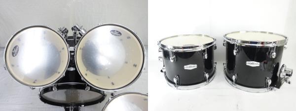 中古 Pearl FORUM SERIES ドラム セット 打楽器 チェア 譜面台 ケース付き パール 直N2564184_画像6