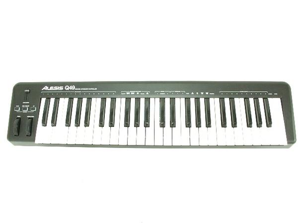 ジャンク ALESIS Q49 フルサイズ 49鍵 キーボード USB/MIDI コントローラー 中古 T2579759