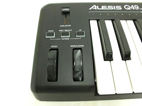 ジャンク ALESIS Q49 フルサイズ 49鍵 キーボード USB/MIDI コントローラー 中古 T2579759_画像4