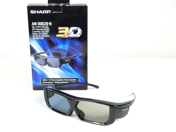ジャンク SHARP シャープ AQUOS AN-3DG20-B 3Dメガネ ブラック K2536455