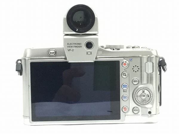 中古 OLYMPUS PEN E-P3 ツインレンズキット シルバー 本体 ボディ レンズ 一眼 T2588545_画像3