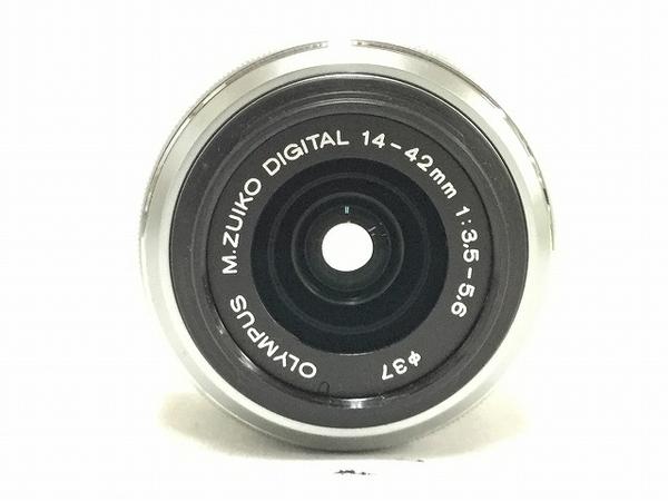 中古 OLYMPUS PEN E-P3 ツインレンズキット シルバー 本体 ボディ レンズ 一眼 T2588545_画像8