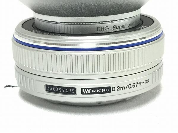 中古 OLYMPUS PEN E-P3 ツインレンズキット シルバー 本体 ボディ レンズ 一眼 T2588545_画像7