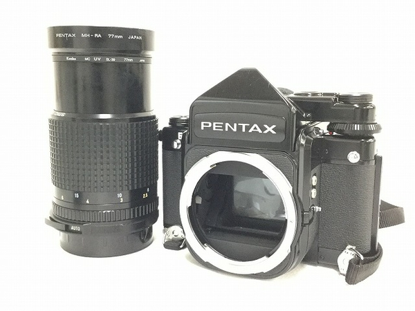 ジャンク PENTAX 67 TTL ファインダー 中判カメラ 400mm レンズ付き 中古 カメラ T2588542