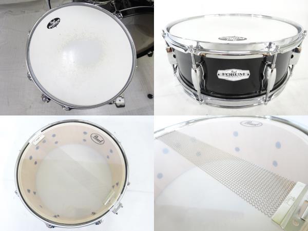 中古 Pearl FORUM SERIES ドラム セット 打楽器 チェア 譜面台 ケース付き パール 直N2564184_画像3
