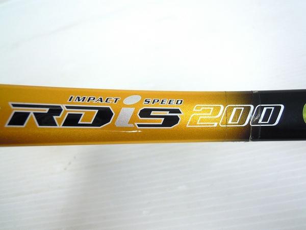 【1円】 中古 訳あり YONEX ヨネックステニスラケット RDiS200 金 黒色 O2558610_画像5