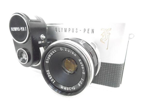 ジャンク OLYMPUS PEN-F D.Zuiko 1:2.8 38mm カメラ ボディ レンズ N2592468