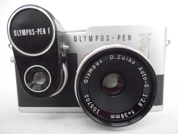 ジャンク OLYMPUS PEN-F D.Zuiko 1:2.8 38mm カメラ ボディ レンズ N2592468_画像2