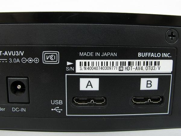 中古 BUFFALO HDT-AVU3/V HDT-AV4.0TU3/V 外付け ハードディスク HDD 4TB T2574094_画像5