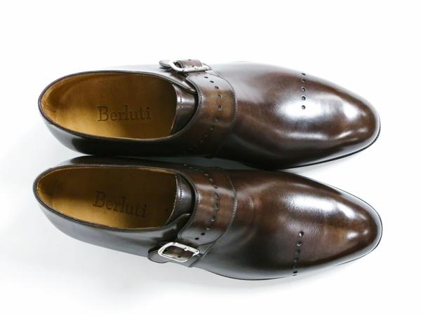 美品 Berluti Buckle ベルルッティ バックル メンズ ビジネスシューズ ブラウン 茶 UK7 JP25.5 レザー 革靴 T2589167_画像4