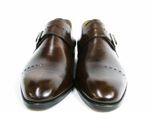 美品 Berluti Buckle ベルルッティ バックル メンズ ビジネスシューズ ブラウン 茶 UK7 JP25.5 レザー 革靴 T2589167_画像2