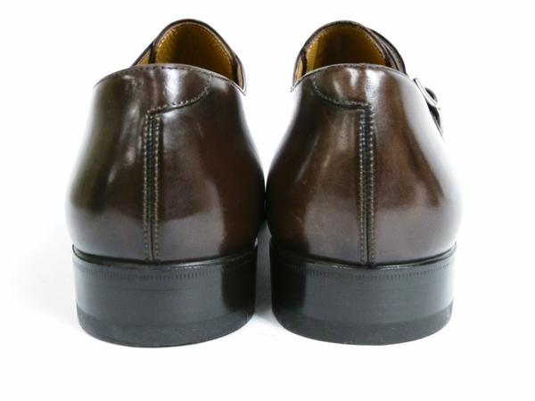 美品 Berluti Buckle ベルルッティ バックル メンズ ビジネスシューズ ブラウン 茶 UK7 JP25.5 レザー 革靴 T2589167_画像3