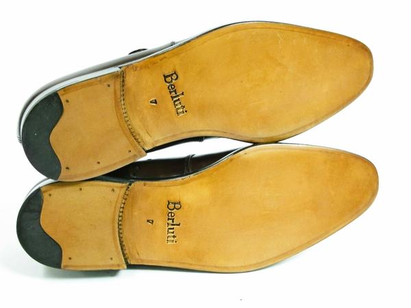 美品 Berluti Buckle ベルルッティ バックル メンズ ビジネスシューズ ブラウン 茶 UK7 JP25.5 レザー 革靴 T2589167_画像6
