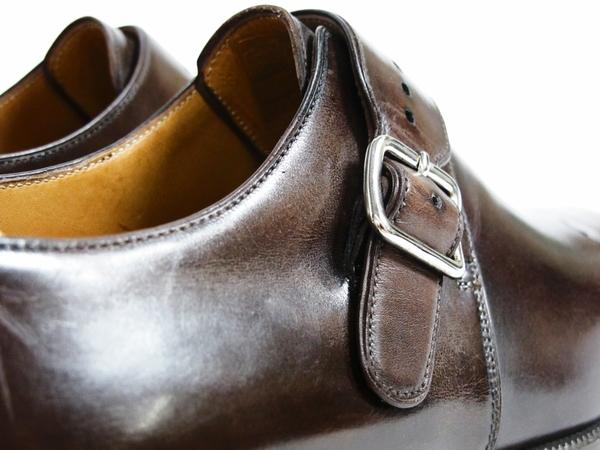 美品 Berluti Buckle ベルルッティ バックル メンズ ビジネスシューズ ブラウン 茶 UK7 JP25.5 レザー 革靴 T2589167_画像5