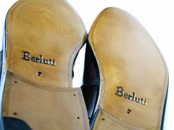 美品 Berluti Buckle ベルルッティ バックル メンズ ビジネスシューズ ブラウン 茶 UK7 JP25.5 レザー 革靴 T2589167_画像7
