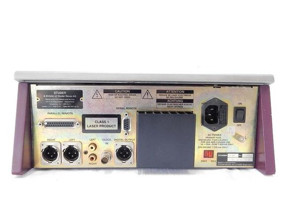 中古 スタジオ業務用 CD Player ストゥーダ STUDER D730 CDS SERIES コンパクト ディスク プレーヤー S2592414_画像6