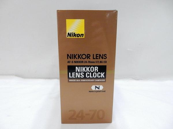 未使用 Nikon ニコン レンズ クロック 時計 AF-S 24-70 f/2.8G ED型 80周年記念 非売品 1000台 限定 S2595837_画像2