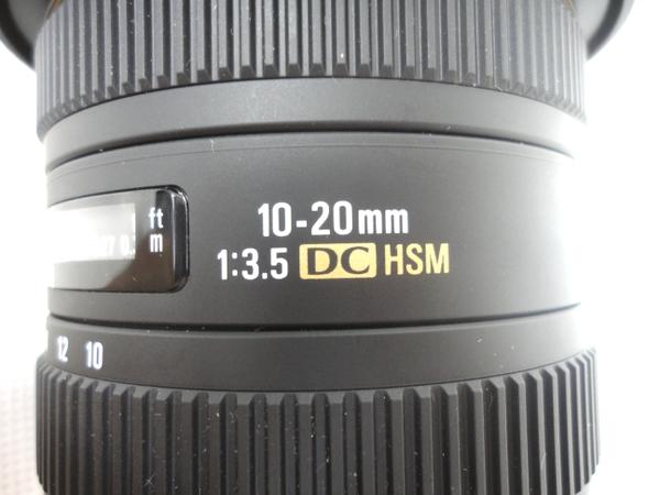 中古 SIGMA レンズ 10-20mm F3.5 DC HSM Nikon用 M2585137_画像5