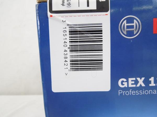 未使用 BOSCH GEX 125-1AE 電動ポリッシャー 電動工具 研磨機 S2595892_画像7
