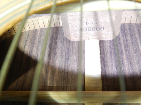 ジャンク Martin マーチン D-28 アコースティックギター ブルーケース付 F2596801_画像6
